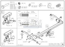 Tažné zařízení Fiat Doblo skříň s CNG/LPG 2010-2018 (II), bajonet, Galia