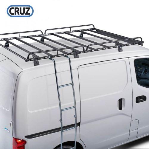 Žebřík pro boční uchycení do žlábku / za střešní koš 234cm, sklopný, Cruz