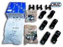 Sada 6 fixačních adaptérů pro koše Cruz Safari - na ALU tyče 45x30 / 52x35 / 28,5x80
