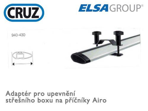 Adapter pro upevnění střešního boxu na tyče Airo