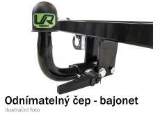 Tažné zařízení Fiat Doblo skříň s CNG/LPG 2010-2018 (II), bajonet, Umbra