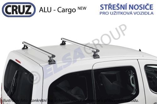 Střešní nosič Citroen Jumper / Fiat Ducato / Peugeot Boxer, CRUZ ALU Cargo