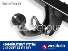 Tažné zařízení Mitsubishi Pajero krátké 2002- (V20 Classic), pevný čep 2 šrouby, WESTFALIA-Automotive GmbH