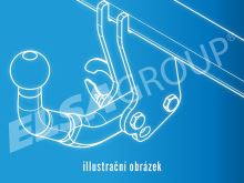 Tažné zařízení Mercedes Benz Sprinter II skříň 5,0t (4,6t) (MWB) 2006-, bez čepu, Westfalia